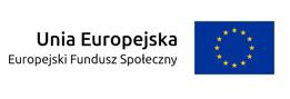 Logotyp Europejskiego funduszu społecznego, unii europejskiej